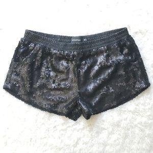 MINKPINK Black Sequined Shorts